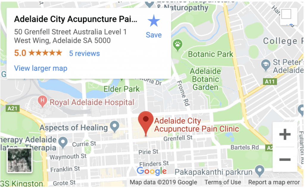 City Acupuncture Clinic Location Map